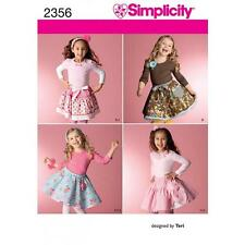 SIMPLICITY SEWING PATTERN CHILD'S SKIRTS SLIPS & ACCESSORIES  2356