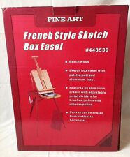French Style Artist Sketch Box Easel Beechwood Folding Portable New