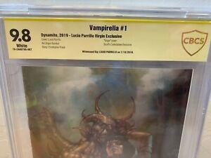 Vampirella #1 CBCS SS 9.8 Signed Lucio Parrillo Virgin Variant Cover Comic CGC