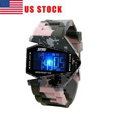 US SKMEI 50 Meter Waterproof Silicone Men Digital Watch Fashion LED Sport Watch