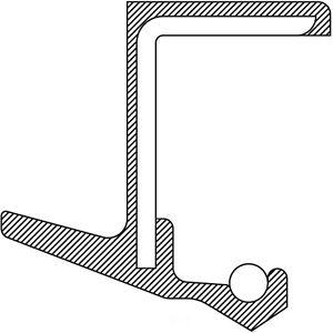 Engine Crankshaft Seal Rear National 710896