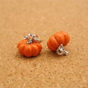 40PCS DIY Jewelry Colorful Enamel Halloweem Pumpkin Alloy Charm Earrings
