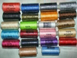 BOBINE fil à coudre POLYESTER 500 mètres Coloris au choix / fil a coudre couture