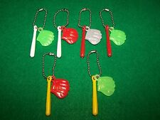 Baseball Pinback danglers / New / old stock charms (lot of 6 sets)