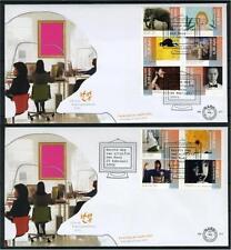 NEDERLAND E511 FDC 2005 - Kunst op 2 enveloppen