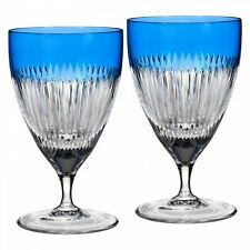 Waterford Crystal MIXOLOGY Argon Blue All Purpose Glasses # 164455 NEW