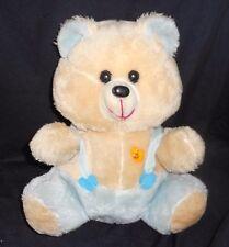 "16"" VINTAGE DAN DEE TEDDY BEAR BLUE MUSICAL LIGHT UP STUFFED ANIMAL PLUSH BROKEN"