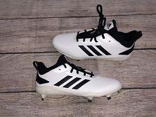 Adidas Mens adiZERO Afterburner V Cleats Size 11  White/Black CG5226 *READ