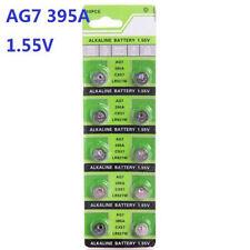10X Batteries AG7 L927 LR57 395A SR57 Coin Button Cell Battery Watch camera ♫
