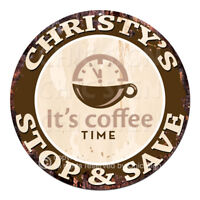 CWSS-0260 CHRISTY'S STOP&SAVE Coffee Sign Birthday Mother's Day Gift Ideas