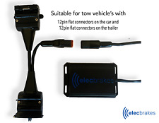 Portable Bluetooth Electric Brake Controller with 12 - 12 Pin Adapter