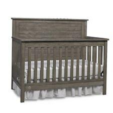 Fisher Price Quinn 4 in 1 Convertible Modern Baby Nursery Crib, Vintage Grey