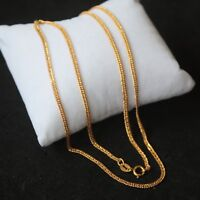 Pure 18k Yellow Gold  Men Women 1.8mm W Curb Link Chain Necklace / 2g / 17.7inch