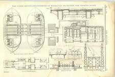 1893 The Tower Bridge 16 Arrangement Of Hydraulic Machinery For Opening Spans