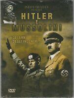 """MUSSOLINI e HITLER - """"GLI ANNI DEGLI INCONTRI"""" DVD STORICO 79 MINUTI ORIG NUOVO"""