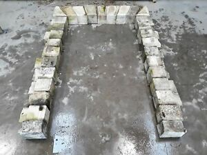 Matching Pair Reclaimed Stone Flat Arch Door Surround Fireplace Folly 10Ft Tall
