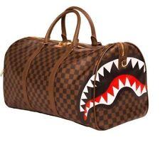 Sprayground Brown Sharks in Paris Suitcase Crossbody Gym Duffel Bag 910D1697NSZ