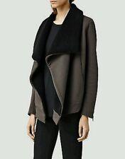 bnwt Allsaints Bora sweat.faux shearling.sz large.Uk 14.£128.washed black
