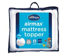 Silentnight Airmax 600 Mattress Topper in 4 Sizes- Hypoallergenic & Washable