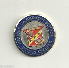 """MARINE CORPS OCS OFFICER CANDIDATES SCHOOL 1.75""""  CHALLENGE COIN"""