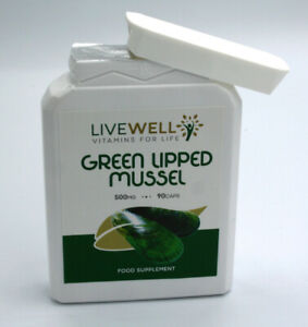 Green Lipped Mussel - 500mg Vegetarian - Joint Pain Arthritis Relief Knee Elbow
