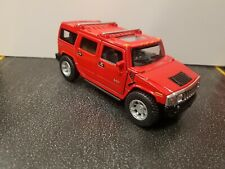 2008 Hummer H2 SUV red kinsmart Toy Car model 1/40 scale diecast metal new