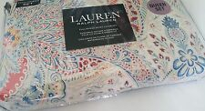 Ralph Lauren F/ Queen Duvet Cover Set Floral toile paisley blue red yellow 3 pc