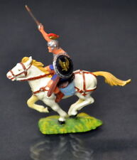 Vintage 1960s Hausser ELASTOLIN 40mm Roman SOLDIER on HORSE - #1