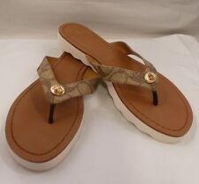 COACH Shelly Women's Tan Flip Flop Sandal Size 7 1/2
