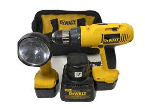 Dewalt Cordless Drill DW972  Light Dw 904 Charger 3 Batteries Plus Case
