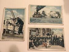ANTIQUE WWI US BATTLESHIP POSTCARD 1909-1924 US NAVY SAILORS