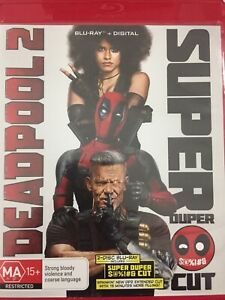 DEADPOOL 2 Super Duper Blu-Ray EVE 2- disk set includes 'clean'& cinema versions