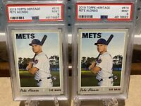 2019 Topps Heritage Pete Alonso Rookie RC Set Of 2! PSA 9 Mint! #519 INVEST!