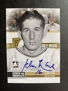 Elmer Lach NHL Legend Signed Hockey card