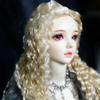 "New 1//3 BJD SD MDD  Doll Wig Wavy Hair Long Dollfie 8-9 /""Bjd Doll Wig Tata0370"
