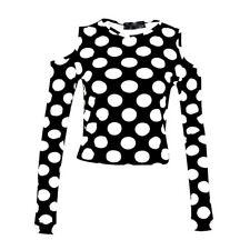 Regular Size Casual Polka Dot Tops & Blouses for Women