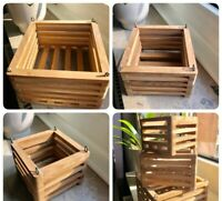 Orchideen Holzkorb-Set (3 Größen)⎜Orchid wooden basket set (three sizes)