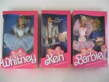 1987 Perfume Pretty Barbie, Ken, Whitney Dolls-Sealed