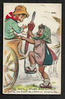 Carte  Postale    Signè   Germaine BOURET AVEC DECOUPI  Dim  9  X  14  Cm