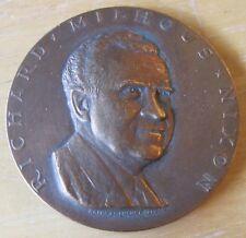"U.S. President Richard M. Nixon Inaugurated Jan. 20, 1969, 2-11/16"" Bronze MEDAL"
