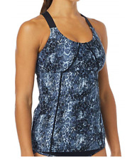 TYR Womens Size Small Seripiente Emma Tank Swimming Top Black