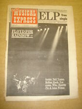 NME 1973 NOV 3 PINK FLOYD EMERSON LAKE PALMER NEIL YOUNG BELFAST ROCK YES