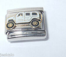 1 White SUV Car 9MM Stainless Steel Italian Charm Brand New FP