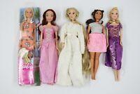 Mattel Disney Barbie Princess Dolls Lot 5