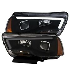 2011-2014 Dodge Charger LED Bar Strip Plank Style Projector Headlights Black