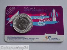 Netherlands Het Vrede van Utrecht Vijfje 5 euro 2013 Fdc Coincard