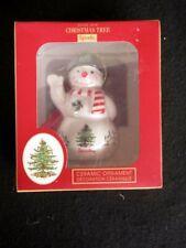 Spode Christmas Tree Snowman w/Black Hat Ceramic Ornament NIB