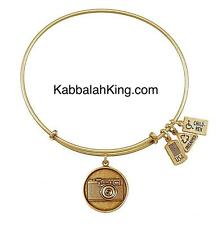 Wind & Fire Camera Disk Charm Gold Stackable Bangle Bracelet Made In USA