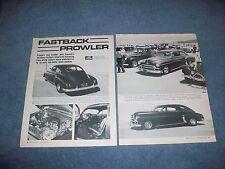 "1949 Chevy 2-Door Fastback Custom Article ""Fastback Prowler"""