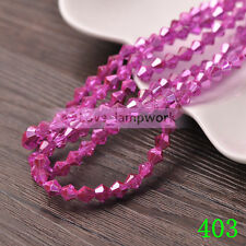 Wholesale 50/200Pcs 6mm Bicone Faceted Crystal Glass Loose Spacer Beads 88Colors